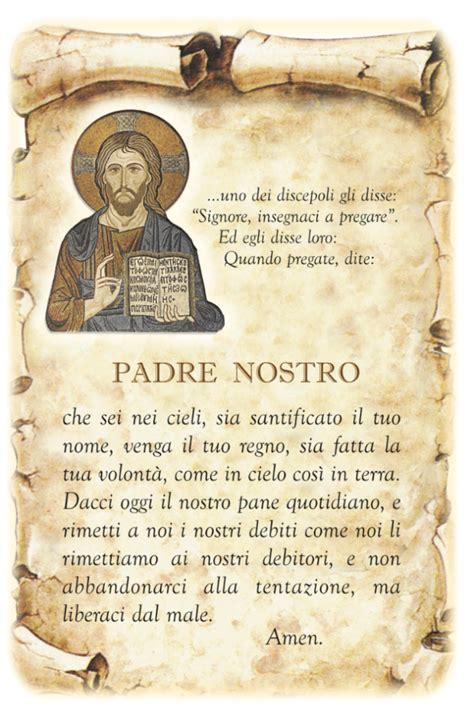 testo padre nostro padre nostro in italiano greco leggoerifletto