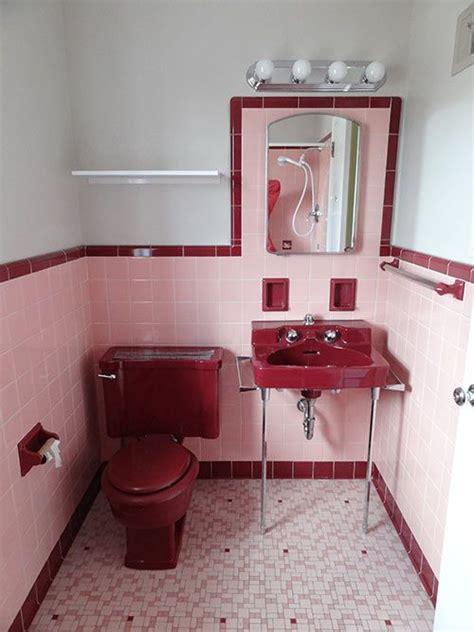 color scheme   pink maroon  white bathroom