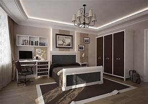stylish teenage boys39 bedroom clad in brown and cream With cool and stylish room boys