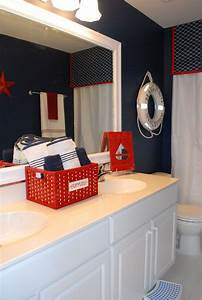57 best nautical themed bathrooms images on pinterest With red white and blue bathroom accessories