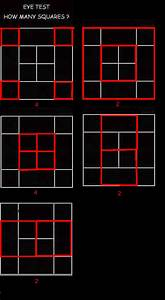 Eye Test  How Many Squares Are In The Diagram