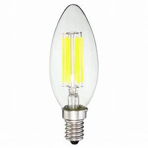 Filament Led E14 : dimmable e14 6w cob 600lm edison filament bulb led light candle ac 110v alex nld ~ Markanthonyermac.com Haus und Dekorationen