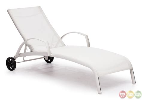 casam white chaise lounge zuo modern 703077 modern outdoor