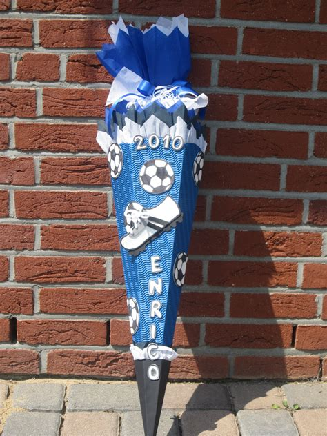 fussball schultuete design schultueten  bastelwonnyde
