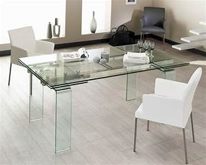 Table en verre salle a manger solutions pour la for Meuble salle À manger avec table salle À manger en verre
