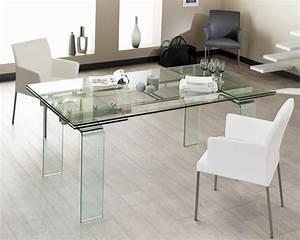 table en verre 240 cm With table sejour en verre
