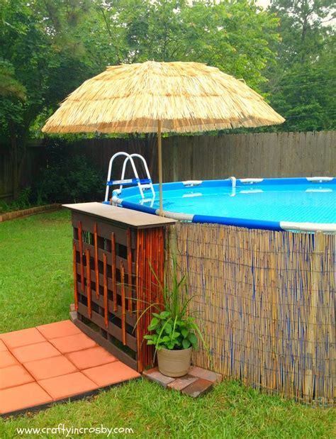 Above Ground Pool Deck Made From Pallets