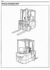 Toyota Electric Forklift Truck 7fbehu18  7fbeu15  7fbeu18