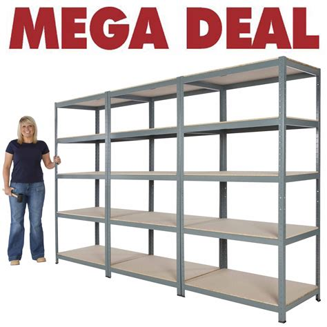 garage storage shelving systems 3x new 5 shelf units 71 quot hx36 quot wx24 quot d steel garage shelving metal storage shelves ebay