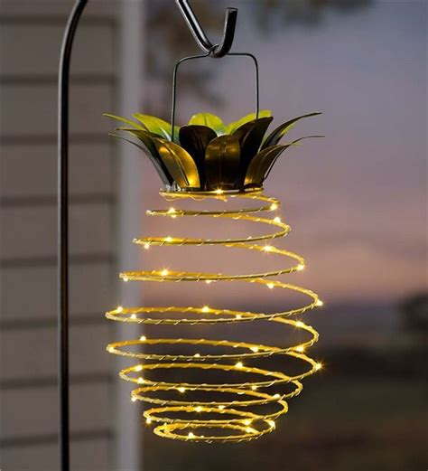 hanging solar lantern decoration pineapple ph