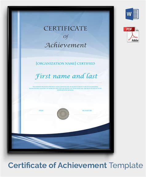 certificate template   printable word excel