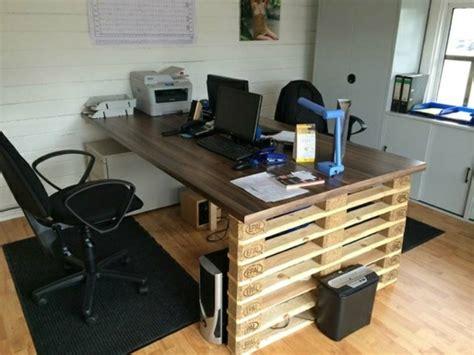 bureau palette palettes en bois idées de bricolage de meubles