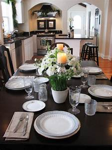kitchen table centerpiece design ideas hgtv pictures hgtv With kitchen colors with white cabinets with candle holder vase centerpiece