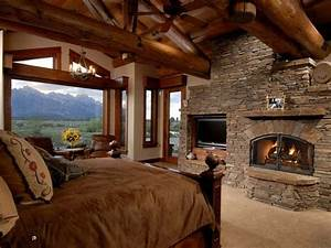 38 rustic country cabins with a stone fireplace for a for Cabin with fireplace
