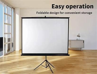 Screen Projector Screens Cinema Tripod Portable Hd3d