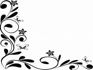 Cool frame designs, black and white floral border design ...
