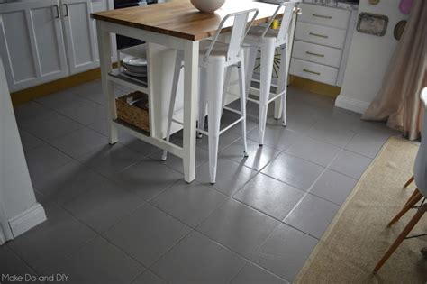 painted tile floor six months later ~ Make Do and DIY