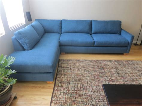 damon sofa  bumper chaise sectional cozy couch sf