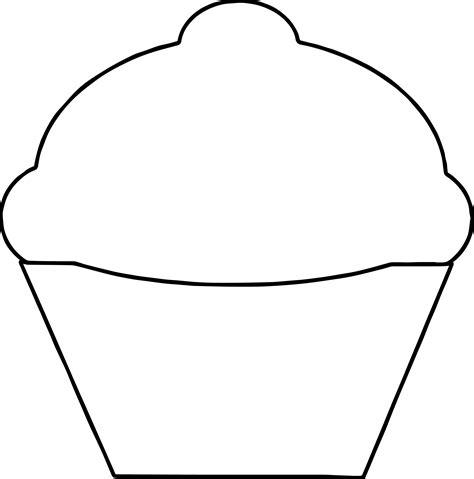 cupcake template printable basic empty cupcake coloring page wecoloringpage