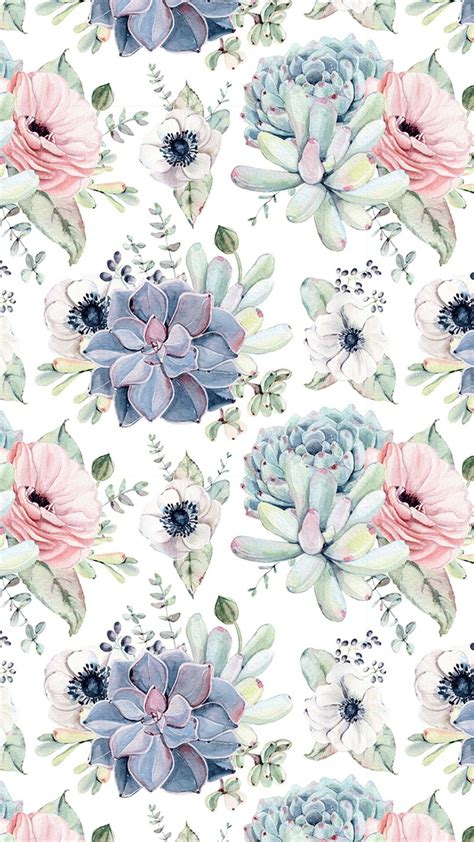 Support us by sharing the content, upvoting wallpapers on the page or sending your. Wallpaper ... By Artist Unknown... | Succulents wallpaper, Watercolor pattern, Watercolor wallpaper