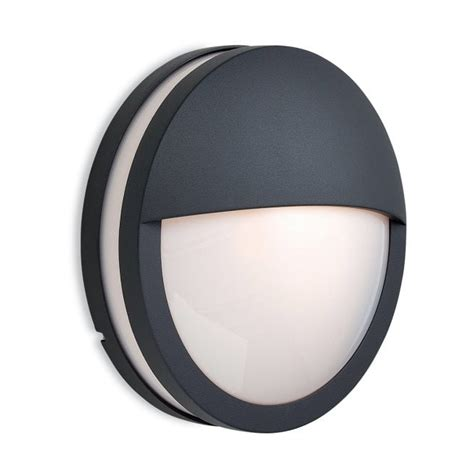 firstlight 8356gp zenith single light exterior wall light in graphite finish with opal diffuser