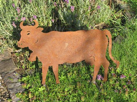 Garten Deko Kuh by Edelrost Kuh Auf Querstange Garden Dekoshop