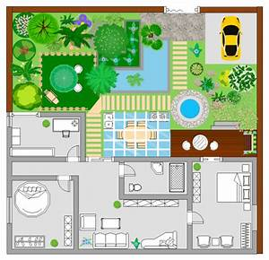 Garden plan examples and templates for Visio garden template