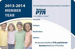 forms paperwork 15th district pta With pta membership card template