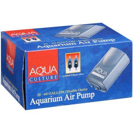 aquarium pumpe 60 l aqua culture 20 60 gallon outlet aquarium air