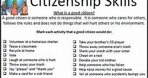Job Skill Worksheets Empowered By Them Citizenship Skills