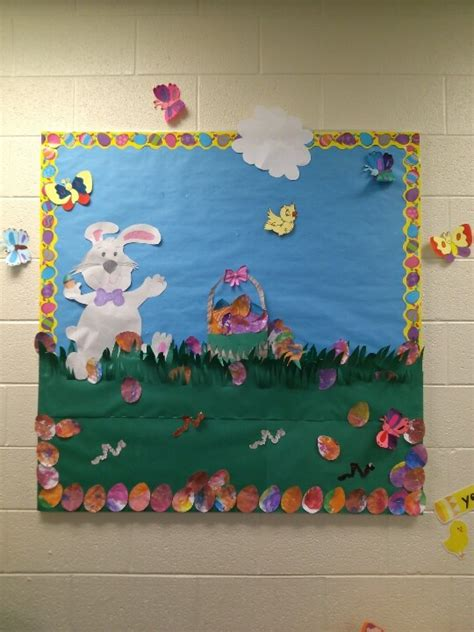crafts actvities and worksheets for preschool toddler and 475 | Easter bulletin board 4