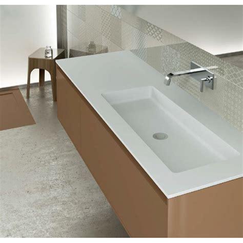robinet cuisine sous fenetre plan vasque blanc mat soho solid surface à poser vasque