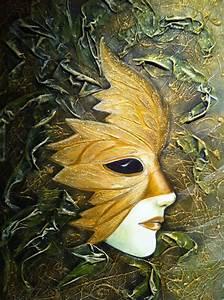 Masque Pour Peinture : masque de venise grande feuille d 39 or ~ Edinachiropracticcenter.com Idées de Décoration