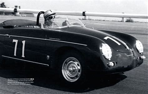 first porsche 356 steve mcqueen and his speedster speedsters a site