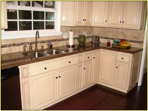 brown cabinets with white countertops kitchen backsplash ideas white cabinets brown countertop