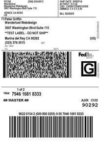 FedEx Print Shipping Labels