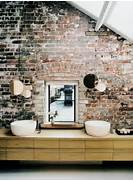 Brick Wall Interior House Brick Wall The Floors Are Dark In Colour And The House Is Fluid In