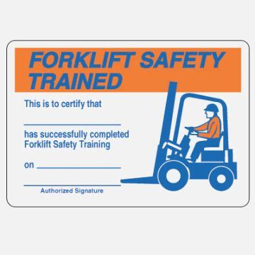 certificate templates forklift certification card