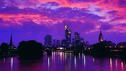 Purple Laptop Graphics Afterglow Evening