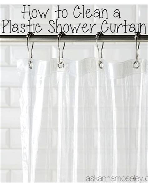 how to clean a plastic shower curtain ask this