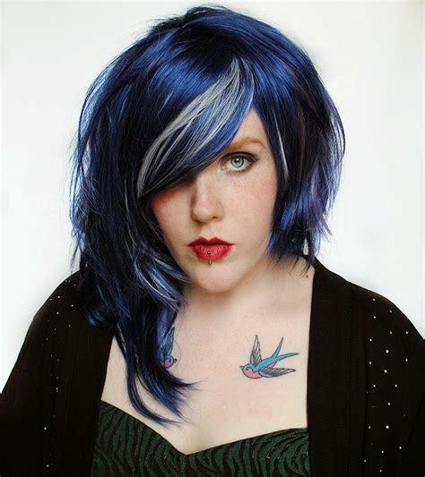 black  blue hairstyles  haircut web