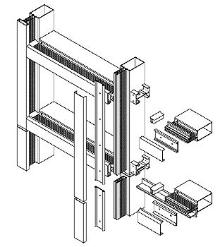 curtain wall framing rooms
