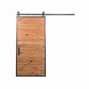 rustica hardware 42 in x 84 in mountain modern clear With 84 inch barn door hardware