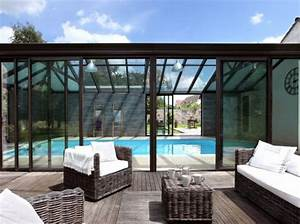 veranda avec piscine extension piscine pinterest With prix veranda piscine couverte