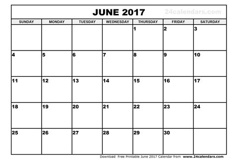 calender outline june 2017 calendar printable template holidays pdf