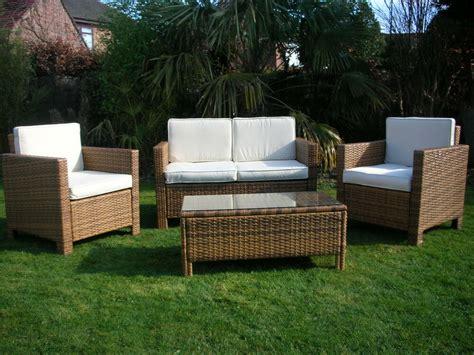 Garden Chair Set by New Rattan Wicker Conservatory Outdoor Garden Furniture