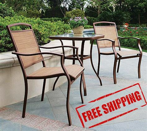 Outdoor Table And Chairs Set by Bar Bistro Set 3pc Table Chair Patio Furniture Outdoor