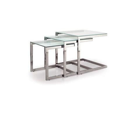 table gigogne verre table gigogne en verre et acier sur deco and me