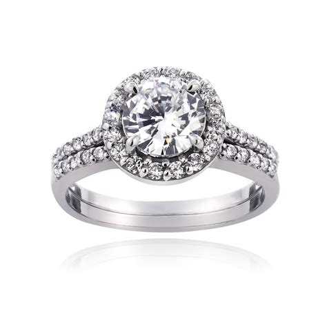 925 sterling silver 1 1 3ct cz bridal engagement ring ebay