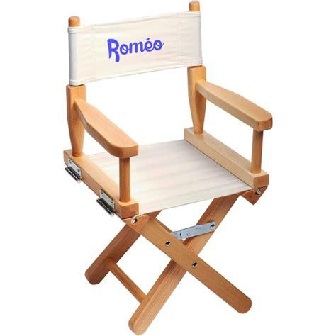 chaise personnalisée chaise metteur en scène enfant personnalisée naturel ecrue
